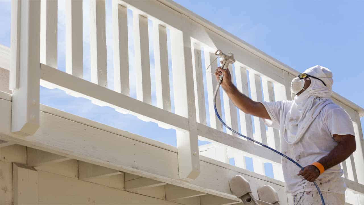 I have seen a lot of people ask - can you paint the exterior of a house with a sprayer? The answer is yes, paint sprayers are recommended and will do a better job than paint rollers. Using paint sprayers to spray paint your house will give you better results and you will complete the project faster.