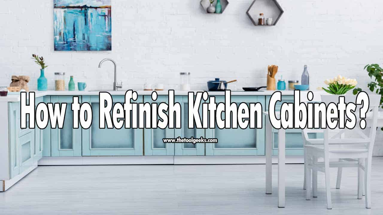 Knowing how to refinish kitchen cabinets will help you save a lot of money. Refinishing cabinets is a hard task, but you can do it if you have a guide to follow. Lucikly for you, we have made a guide where we explain how to use a paint sprayer to spray kitchen cabinets.