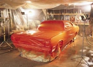 Preparing the space you will paint spraying your car is important. You will need a lot of space to move around and at the same, you need to protect other tools that are near you so you don't accidentally paint spray them