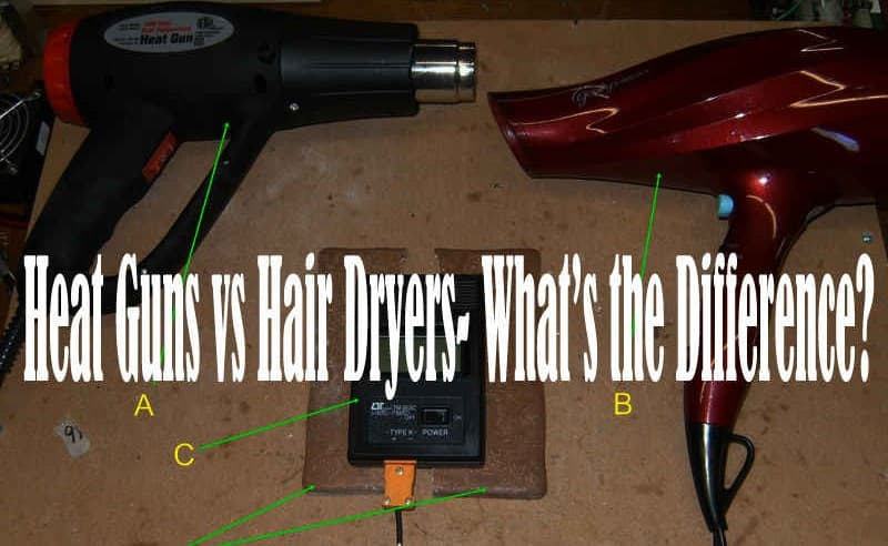 Heat guns vs hair blowers