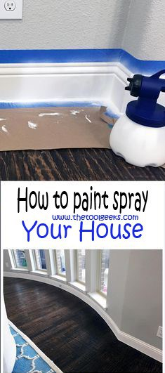how to paint spray your house?