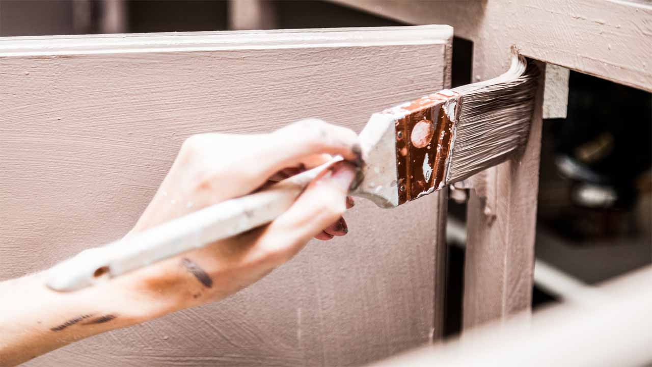 A lot of people don't know if you should use a paintbrush or a paint sprayer when it comes to painting your kitchen cabinets. We recommend using a paint sprayer because the quality is better, and you will get the job done faster.