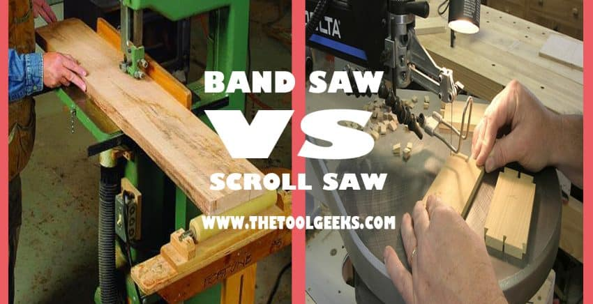 There are a lot of differences between a band saw and a scroll saw. Scroll saws are used for smaller projects while band saws are used for bigger projects. If you want to know more about band saws vs scroll saws then check our post