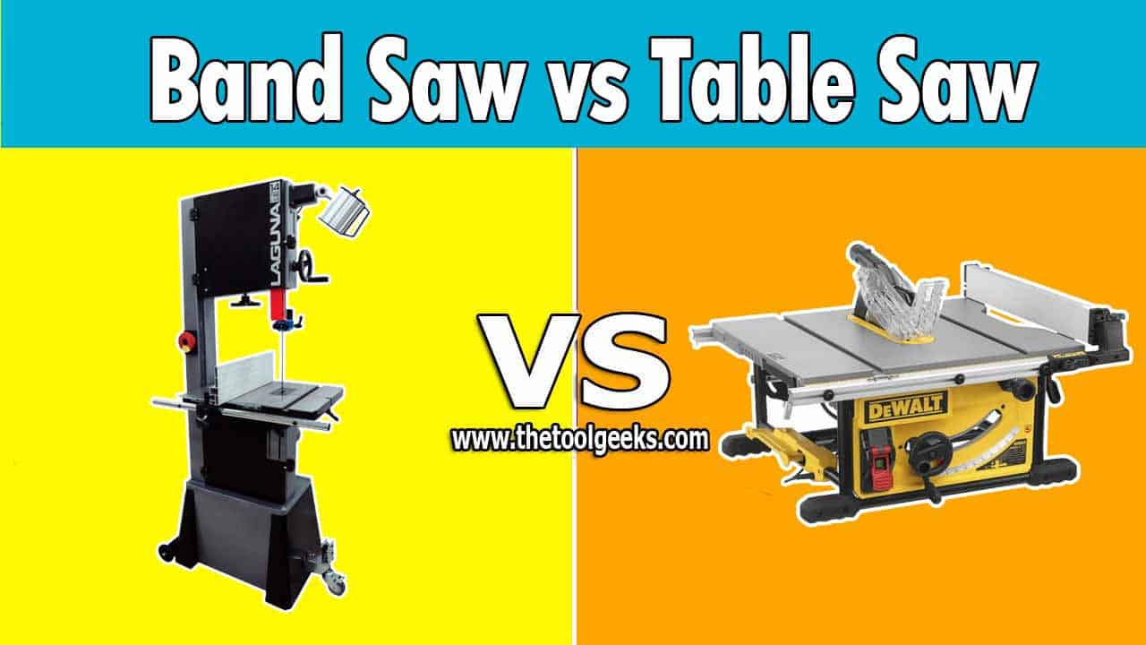 A lot of people don't know the difference between a band saw vs table saw. These two tools don't look alike, but they are very popular among woodworkers and that's why a lot of people with no experience don't know the difference.