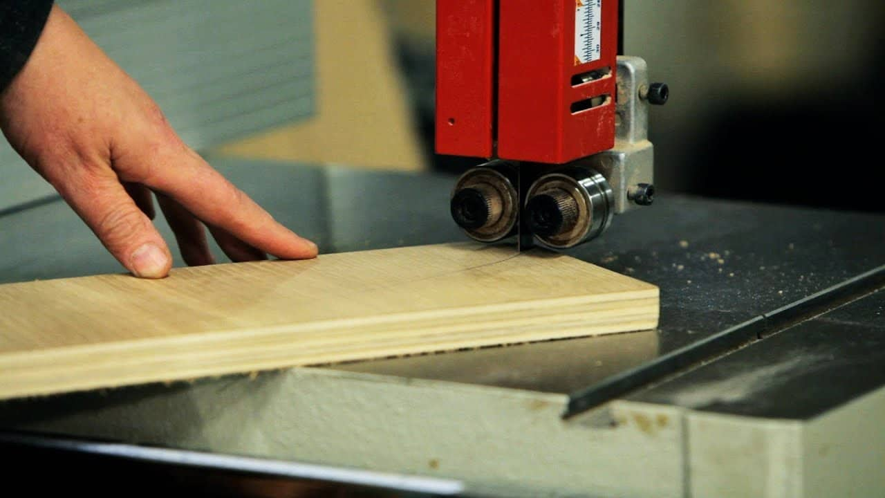 Band saws are used to cut thick material. You can cut almost every material with this machine, you can even cut metal and plastic.