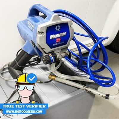 Preparing the Graco Magnum 262800 to spray my doors.