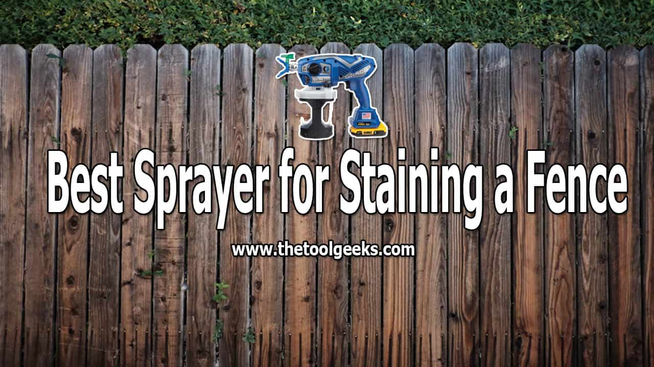 Are you looking for the best sprayer for staining a fence? If yes, then I recommend you to go for a fence paint sprayer, fence sprayer are fast, easy to use, and give you a smooth finish.