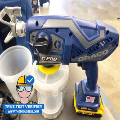 The Graco TC Pro is a great and powerful paint sprayer. Here's a photo that I took before using the sprayer.