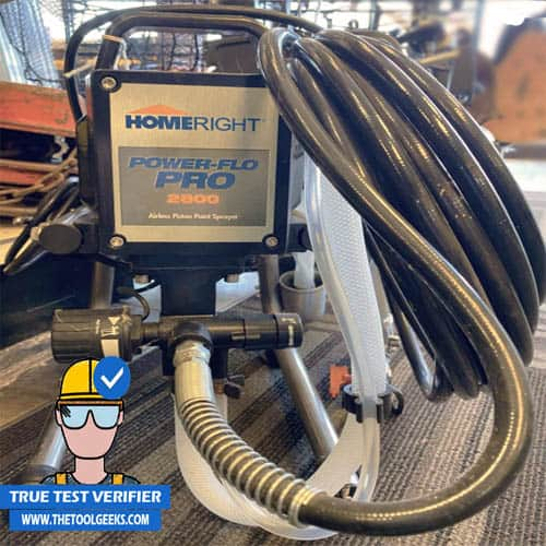 The HomeRight Power Flo Pro is one of the easier commercial paint sprayers to use.