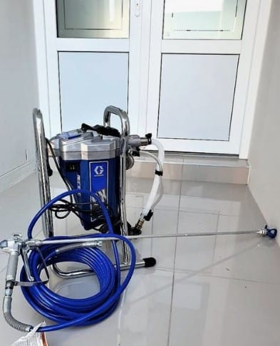 Airless paint sprayers are faster but they don't provide a very smooth finish quality/ If you need to spray large surfaces then airless paint sprayers are your best friend. It can spray up to 0.33 gallons per minute ( Depending on the model), and it uses up to 3000 PSI.