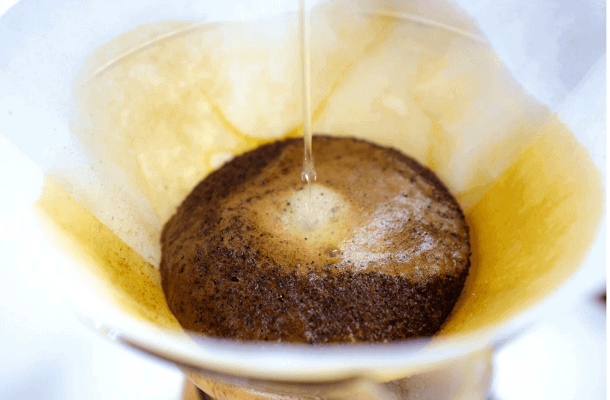 Once you drink your coffee, you can leave it on the room and that's how you can get rid of paint smell