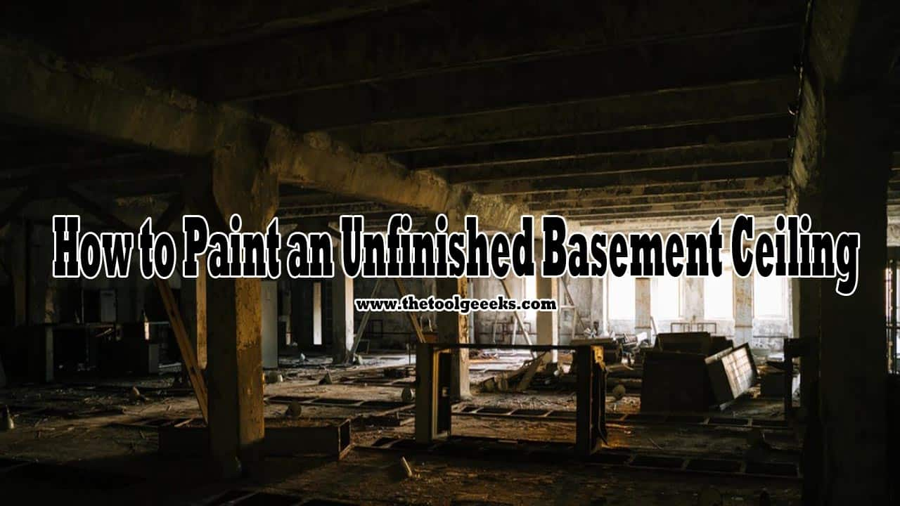 A lot of people have asked me how to paint an unfinished basement ceiling. And the answer is easy, you just have to follow this mini-guide that I have provided for you. You also need a paint sprayer, prime color, and paint. You can thank me later.