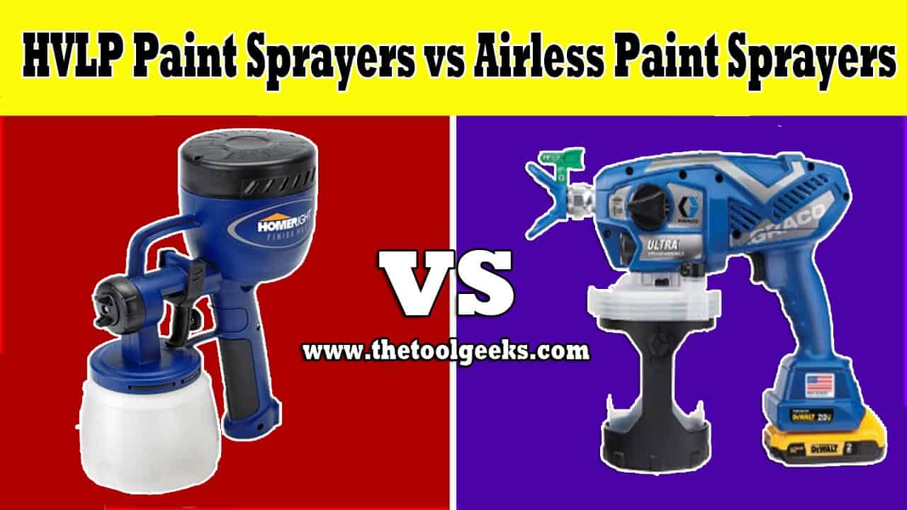 HVLP paint sprayers vs airless paint sprayers? A very good question, these two sprayers come with a lot of differences. Starting from price to their design. They are used for different projects and use very different atomization.