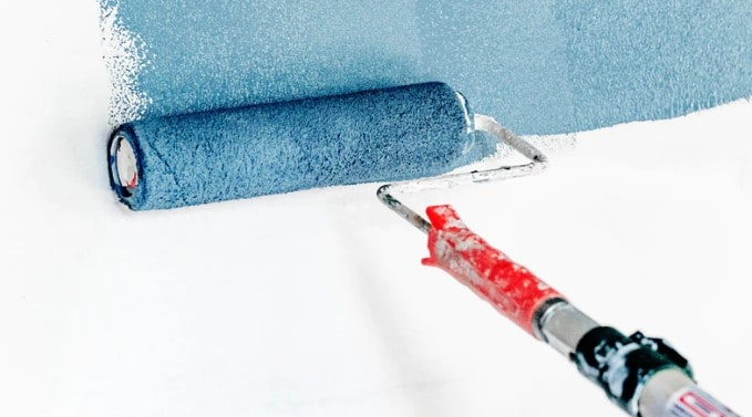 You can use paint rollers too. They provide a fine finish but you will make a huge mess. Make sure to do long strokes and don't go back and forth a lot.