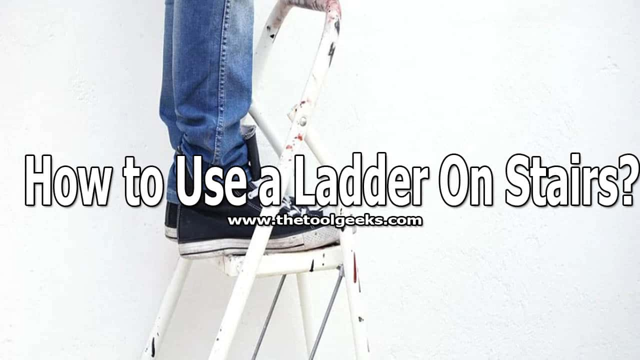 if you are looking to learn how to use a ladder on stairs safely then you came to the right place. There are a lot of different things that you have to do so you can use ladders on stairs