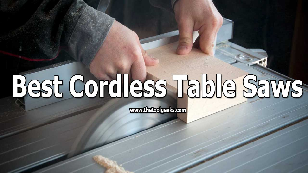 A lot of people are starting to use cordless table saws. The main reason for that is because you can work anywhere you want, you are not limited by power outlets. Choosing one can be hard and that's why we have made the best cordless table saws list for you. We have listed different models with different features.