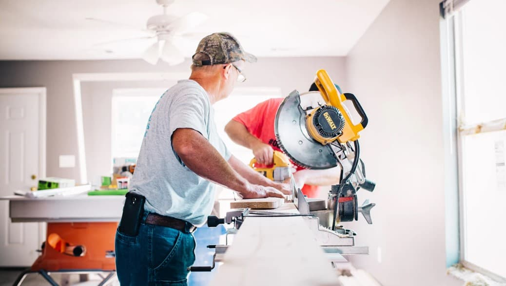 The difference between a table saw and miter saw is the blade. The blade on table saw is on the table, and the blade in the miter saw is attached to its head.