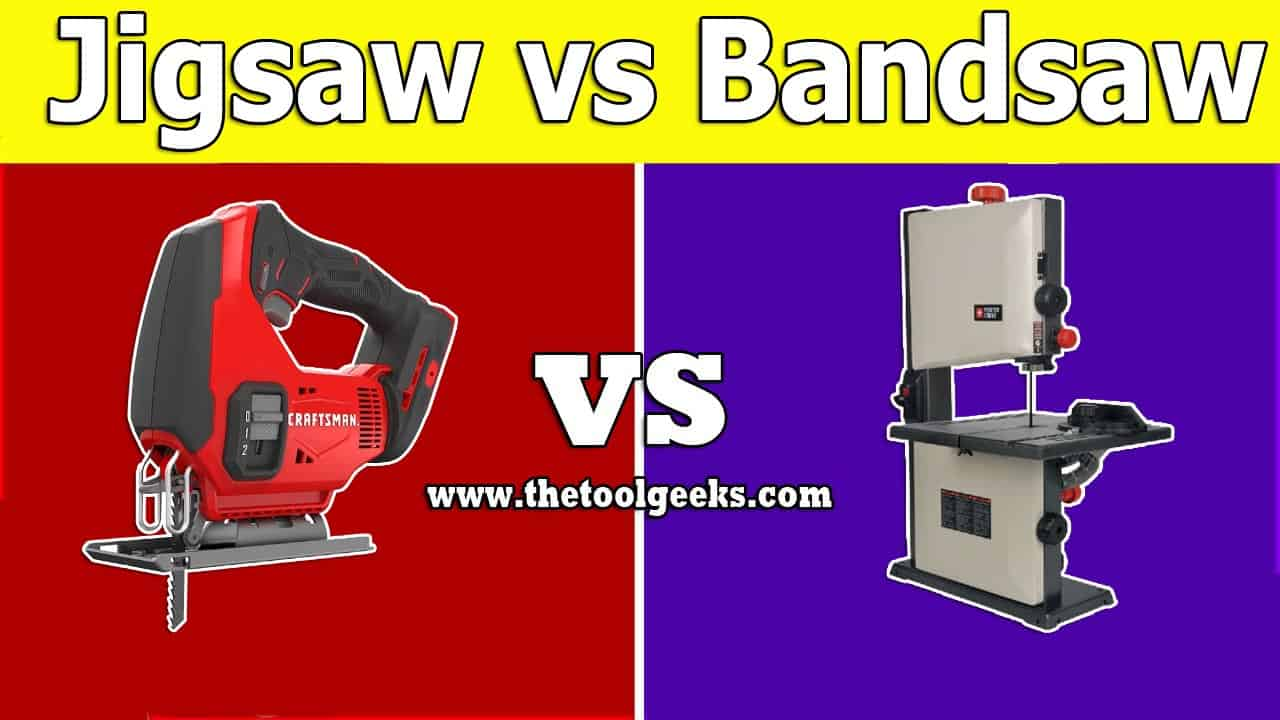 The jigsaw and bandsaw are two very similar machines. But, they are used for different things. Their body is also very different. If you want to learn more about jigsaw vs bandsaw then make sure to read our post.