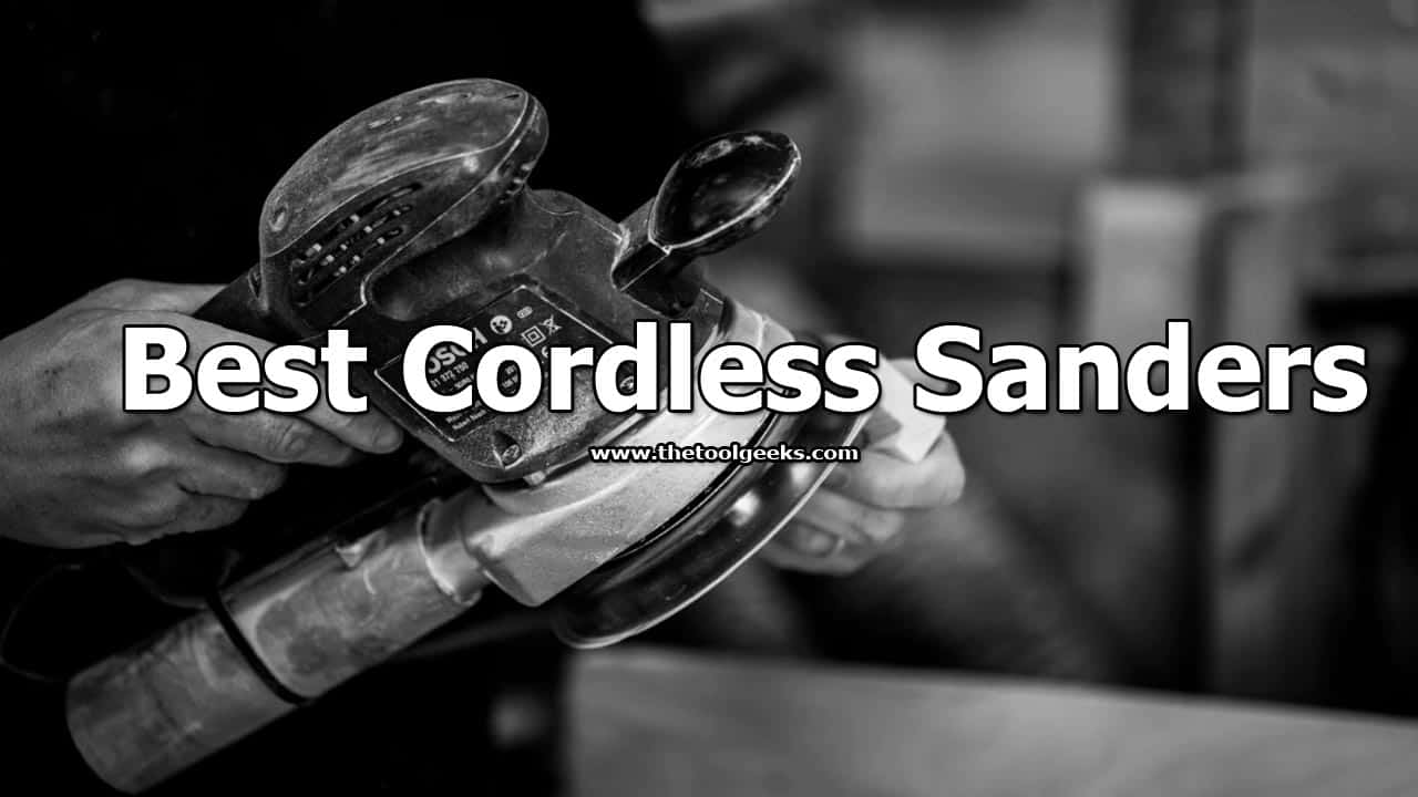 If you have to work outside then cordless sanders are a great option. You are not limited by your cord or power outlet, you can move freely around the area. If you don't have one, then make sure to check my best cordless sanders list.