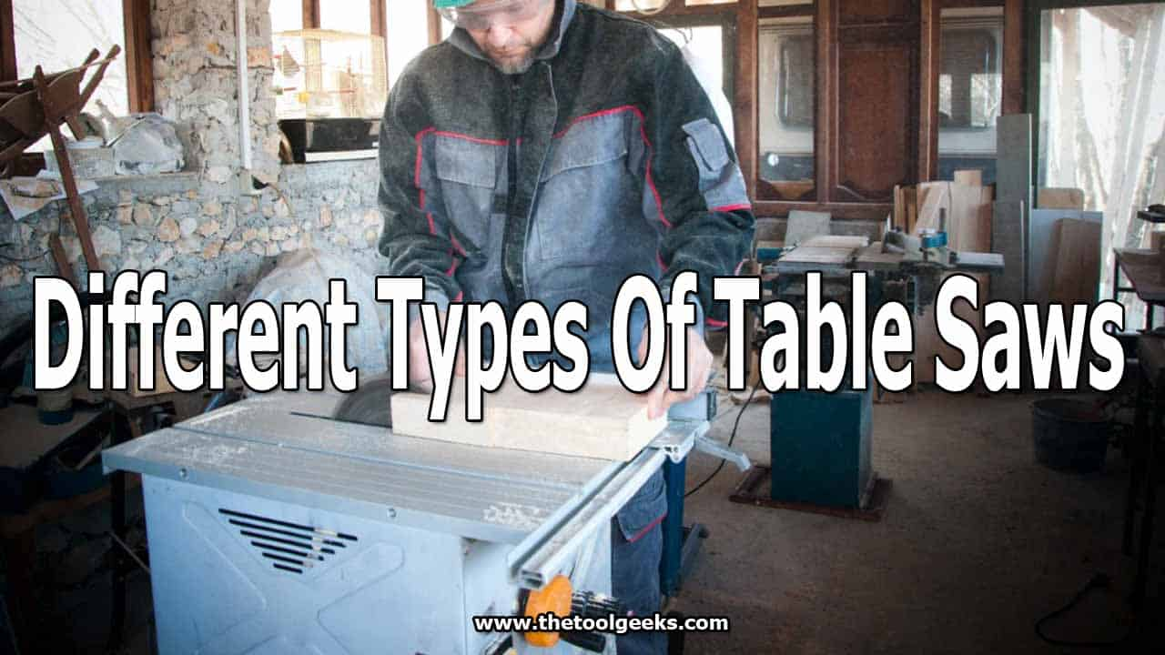 There are a lot of different types of table saws -- depending on your project, you can choose one or the other. If you don't know which one to pick, then you should read our post to understand the differences between table saws better.