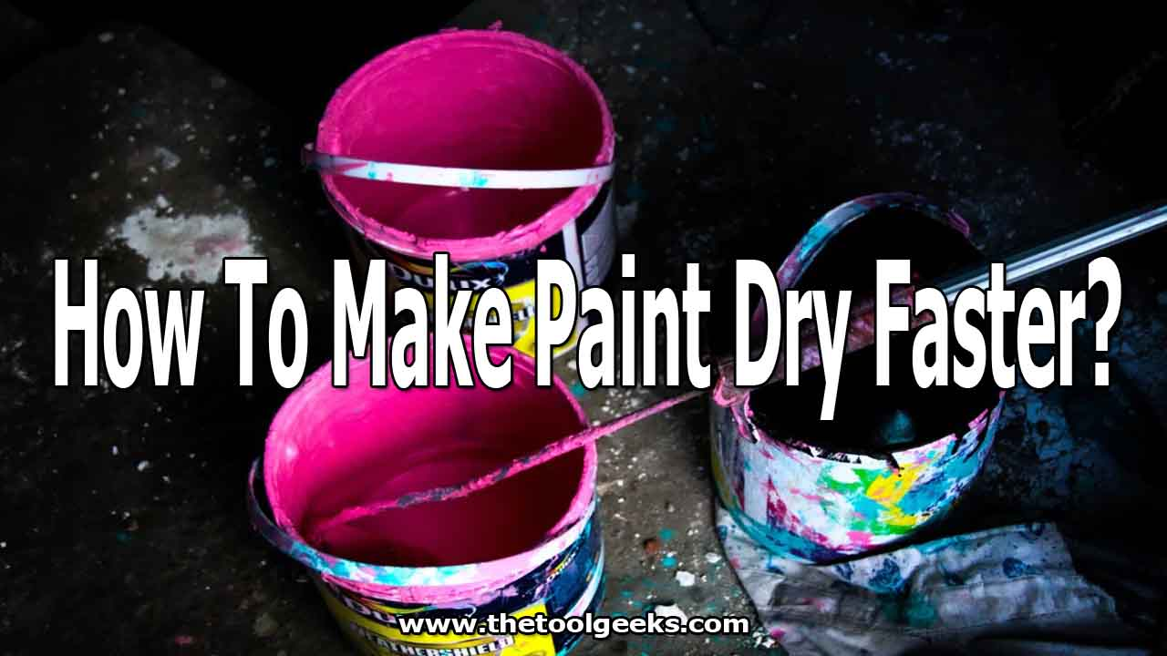 If you are in a rush and you need to dry your paint faster then you are in luck. We made an effective guide on how to make paint dry faster and easier. The process is very easy and everyone can do it. There are 7 different ways that you can do that -- hint: one of them includes using a hairdryer.