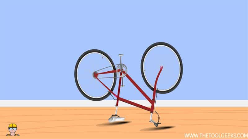 Step 4 - Put The Bike Upside Down