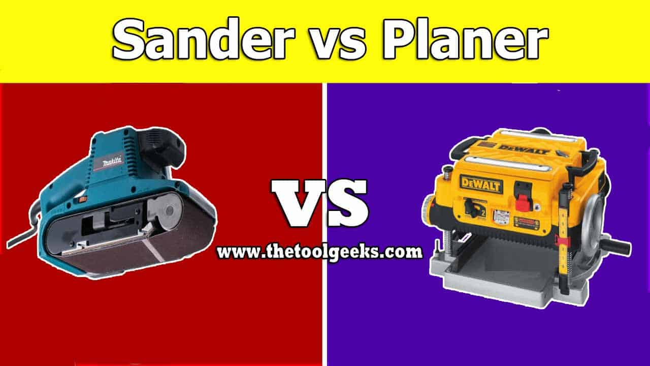There are a lot of differences between a sander vs planer. They both are used for woodworking projects, but the sander is used to smoothen the surface while the planer is used to remove the whole surface.