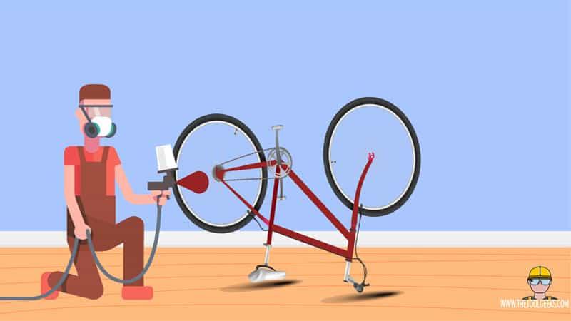 Start spraying your bike frame
