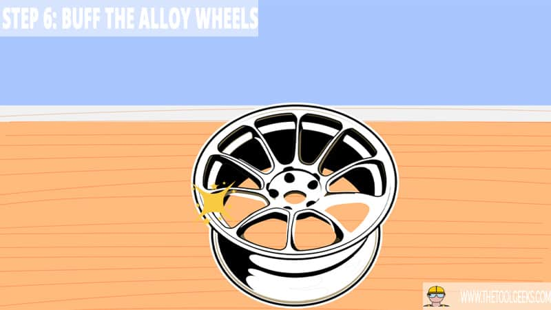 Step 6: Buff the Alloy Wheels