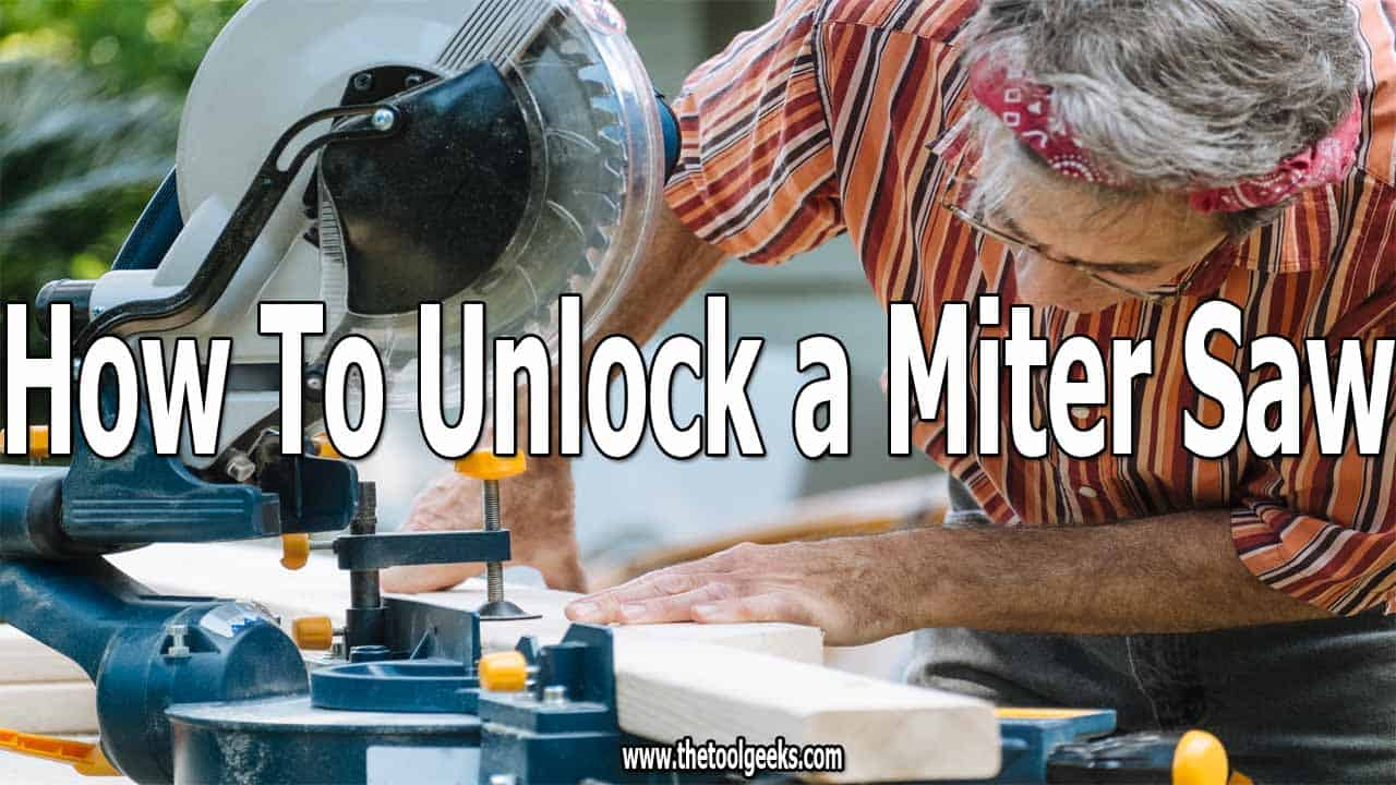 You need to unlock saws before using them. Knowing how to unlock a miter saw is essential if you ever want to use that saw. The process is easy and it takes only 1 minute to do that. You can learn it in 5 quick steps.
