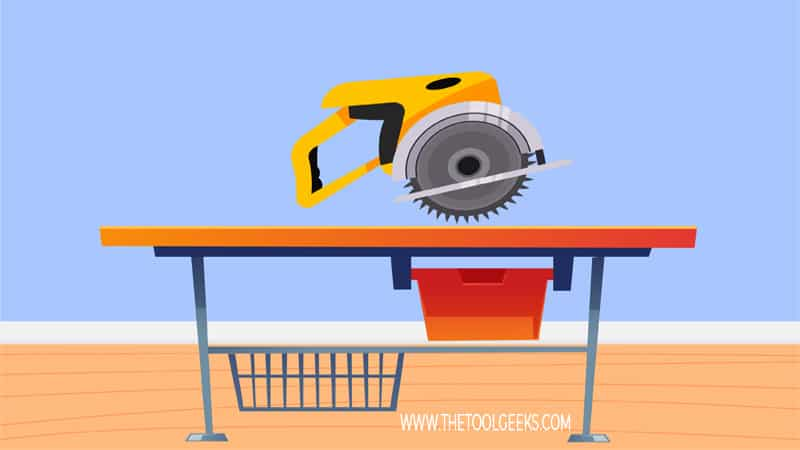 A circular saw is a versatile woodworking tool. The saw comes with a circular blade in the middle of its body.