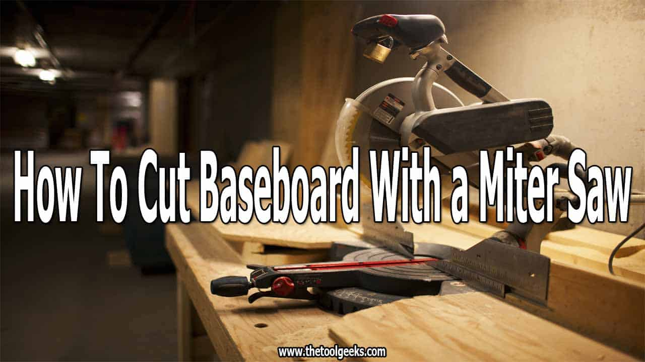 If you want to learn how to cut baseboard with a miter saw then you need to understand that there are two ways you can do that. You can do that by using a straight cut or angled cut. Both ways are easy to do, and depending on your needs you may use one or the other, or both.