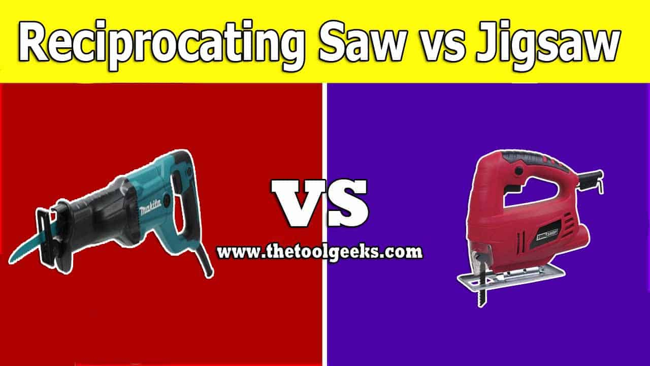 Both of these tools can be used for similar material. But, there are a lot of differences between a reciprocating saw vs jigsaw. The most obvious one is the design. Except for that, there are also some similarities between these two saws