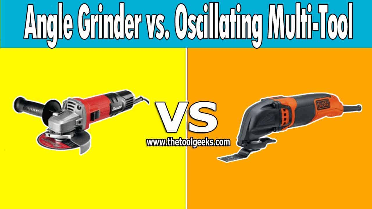 There are a lot of differences when it comes to angle grinder vs. oscillating multi-tool. But, the main difference is the price and the purpose. While angle grinders can be used for limited types of projects, the oscillating multi-tool is a very versatile tool that can be used for different projects.