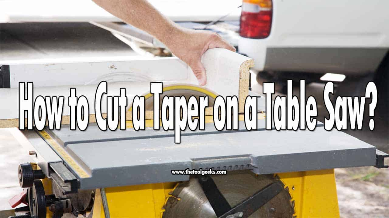 A taper cut is a very known method to get a clean-cut, a lot of people do it with different saws, but how to cut a taper on a table saw? The process is the same as the others, use markers, use a jig, and use a guide.