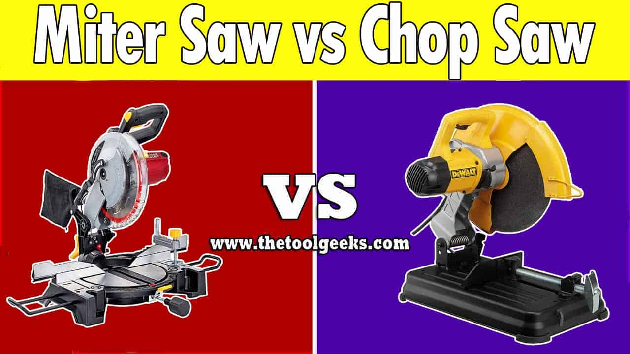 When it comes to saws, the miter saw vs. chop saw is a very discussed thing. These two tools look the same, and they do the same job. So, what's the difference between a chop saw and a miter saw? The first thing is the size, the chop saw is bigger while the miter saw is smaller. Another difference is the cutting angles, the chop saw can only cut in 90-degrees while the miter saw has more options.