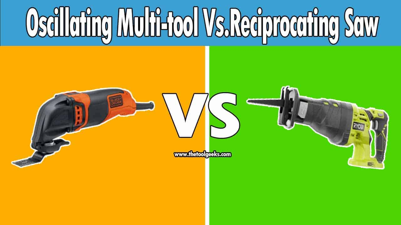 If you are trying to cut wood or metal you will come across two power tools -- the reciprocating saw vs. oscillating multi-tool. Both of these two power tools are great. Personally, I prefer the reciprocating saw if I'm dealing with remodeling, and I prefer the oscillating multi-tool if I'm dealing with tight spaces.