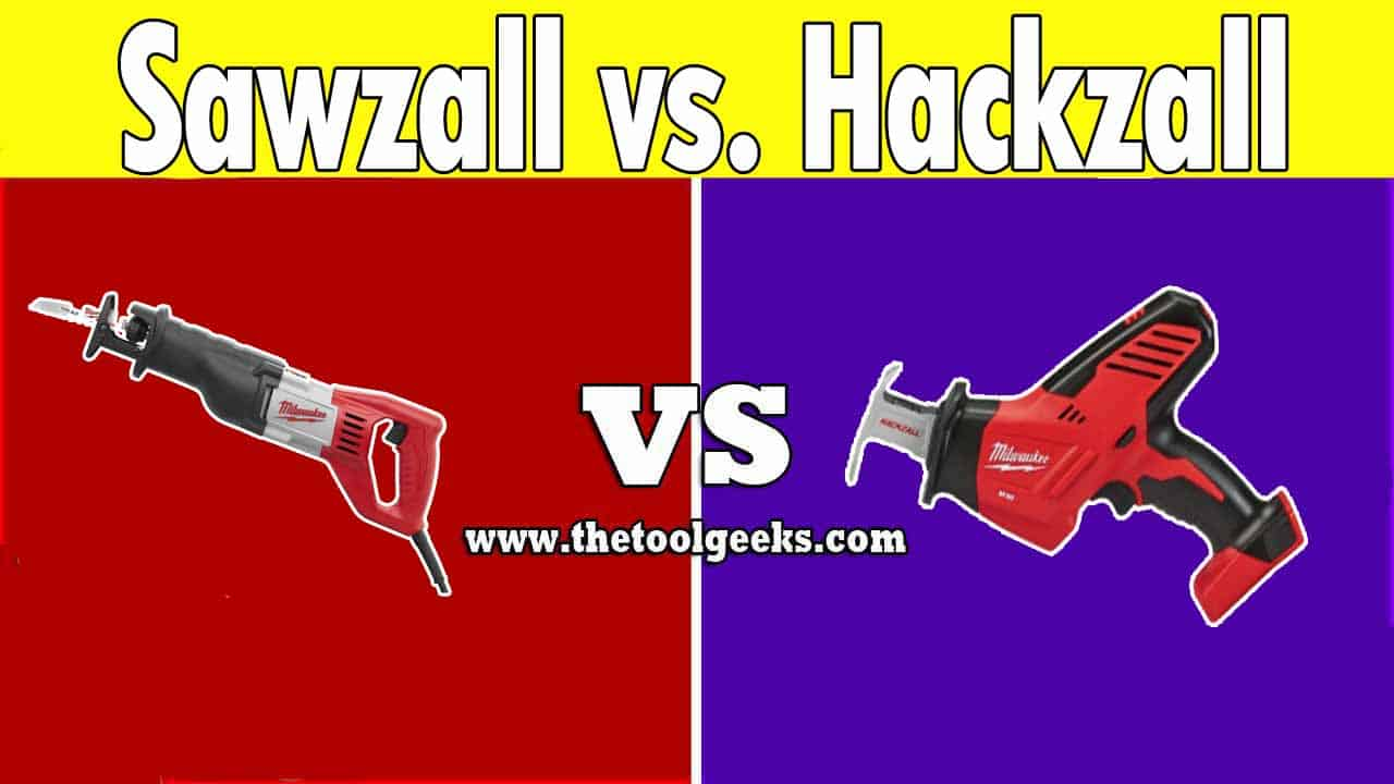 Both of these two power tools look the same and they have the same purpose, but what's the difference between sawzall vs hackzall? The main difference is the body. While the sawzall is designed to be used with two hands, you can use the hackzall with only one hand. Another difference is the power, the sawzall blade can cut through anything, while the hackzall blade has its own limits.
