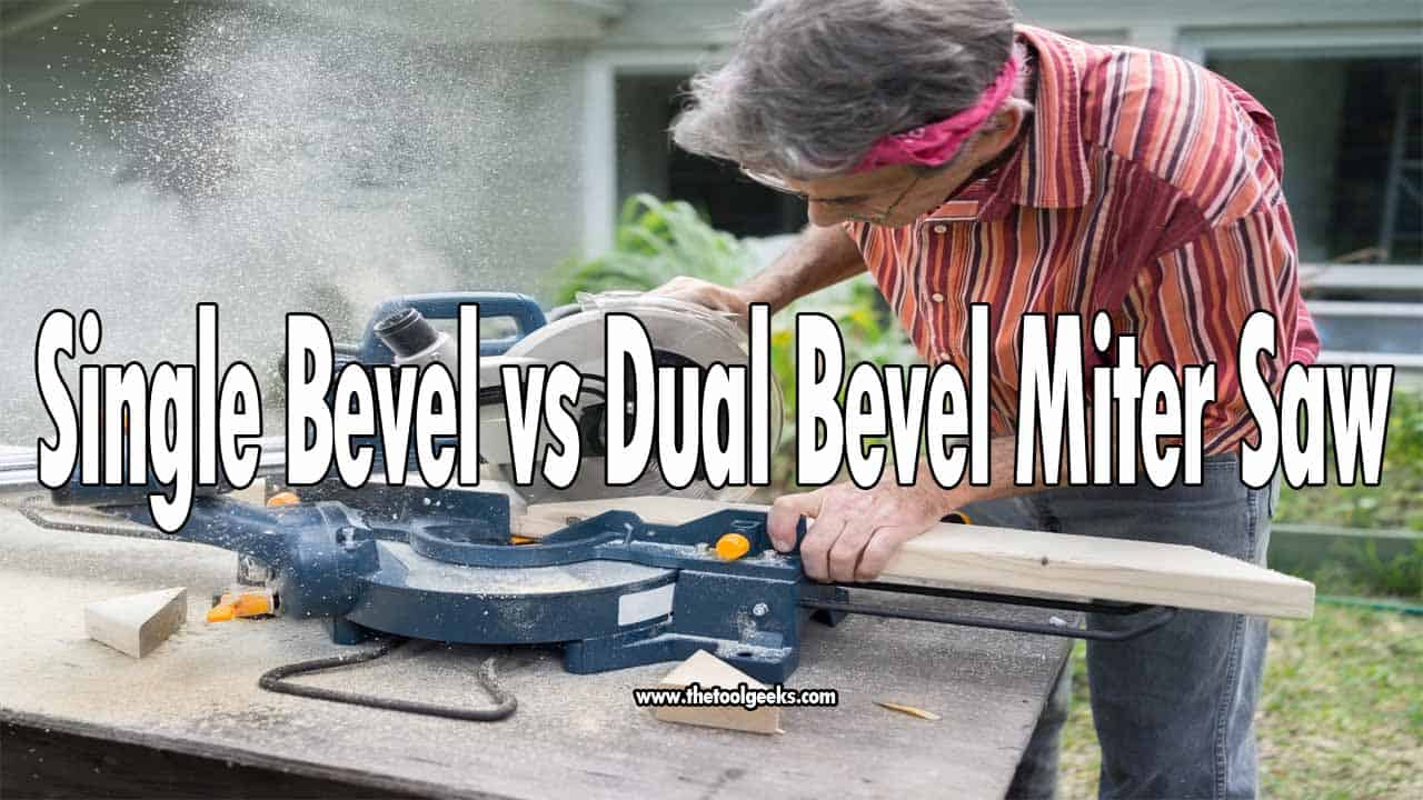 Not a lot of people know the difference between a single bevel vs dual bevel miter saw. Basically, if you have a single bevel miter saw then you have to flip the material twice to get the cut through, while the dual bevel makes more accurate cuts.