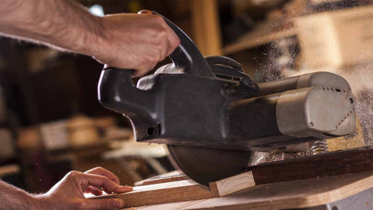 A chop saw is a very powerful saw. The only problem with this saw is that it can be used to only cut at 90-degrees. But, it has great power. It can cut through concrete, metal, wood, etc. If you want straight cuts then you should go for the chop saw.