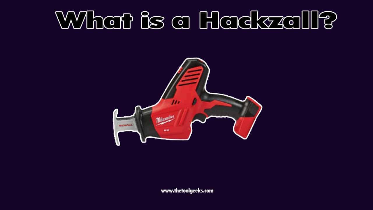 The hackzall is a cordless power tool. It's a handheld tool that you can hold with only one hand. This power tool is used for tight spaces. It doesn't have as much power as the reciprocating saw, but it will do wonders for small DIY projects.