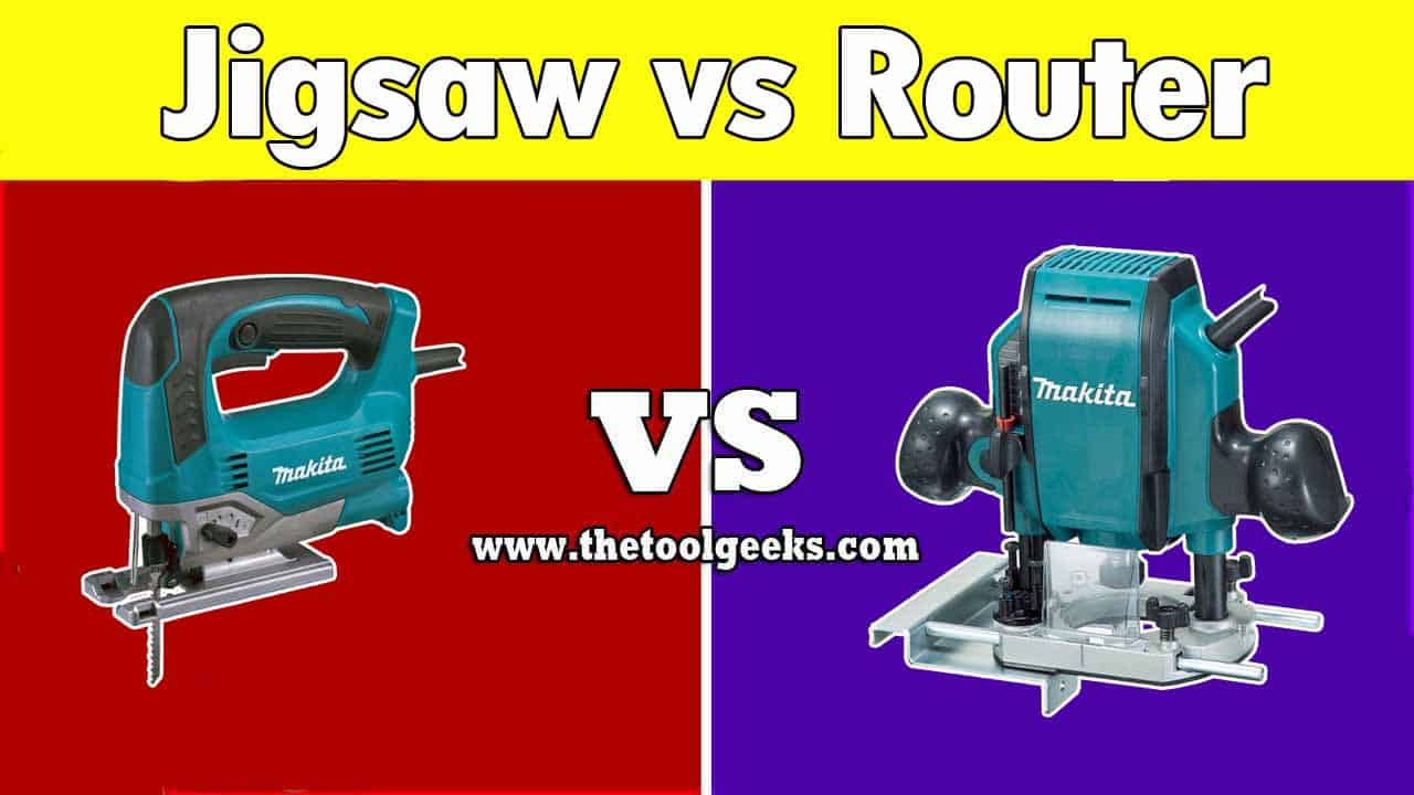 A lot of people get confused when it comes to jigsaw vs router. These two woodworking power tools look very similar and do almost the same job. The main difference is the purpose. While jigsaws are used to cut wood, the routers are used to round up the edges.