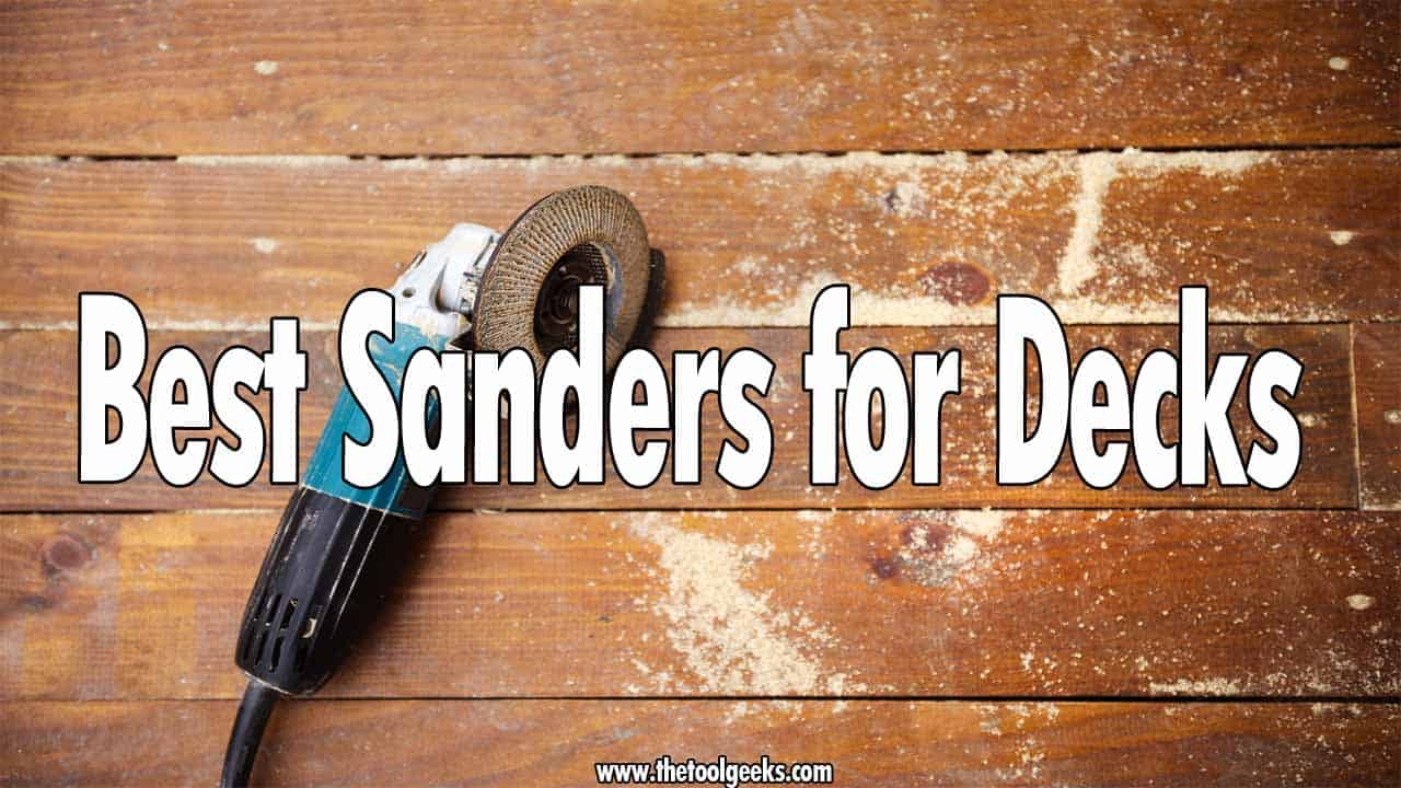 If you are planning to refinish your decks then you need to sand them before you paint them. To do that, you need a sander. Choosing one can be hard, that's why we made a list that contains the best sanders for decks. The list has 5 different sanders that come with different features.
