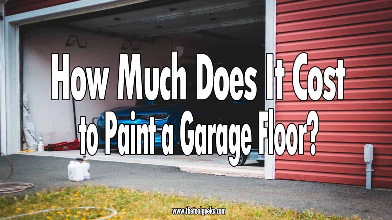 You might be wondering, how much does it cost to paint a garage floor? It depends on a lot of things. There are two ways you can paint your garage floors, you can hire someone or do it yourself. If you hire someone it's going to cost you more (about 1500$), but you don't have to do anything. If you do it yourself is going to cost you less (about 300$), but you have to do all the work.