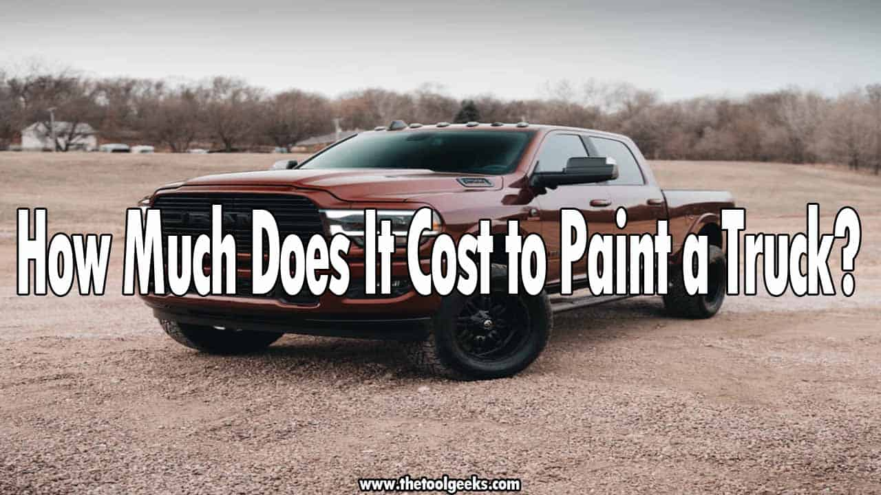 Everyone wants their truck to look as good as possible, there comes a time where the paint of your truck doesn't look good anymore, so you have to re-pain it. But, how much does it cost to paint a truck? It depends whenever you want to do it by yourself or hire someone. If you do it by yourself the estimated price is somewhere near 350$, and if you hire a professional it will cost you somewhere near 600$.