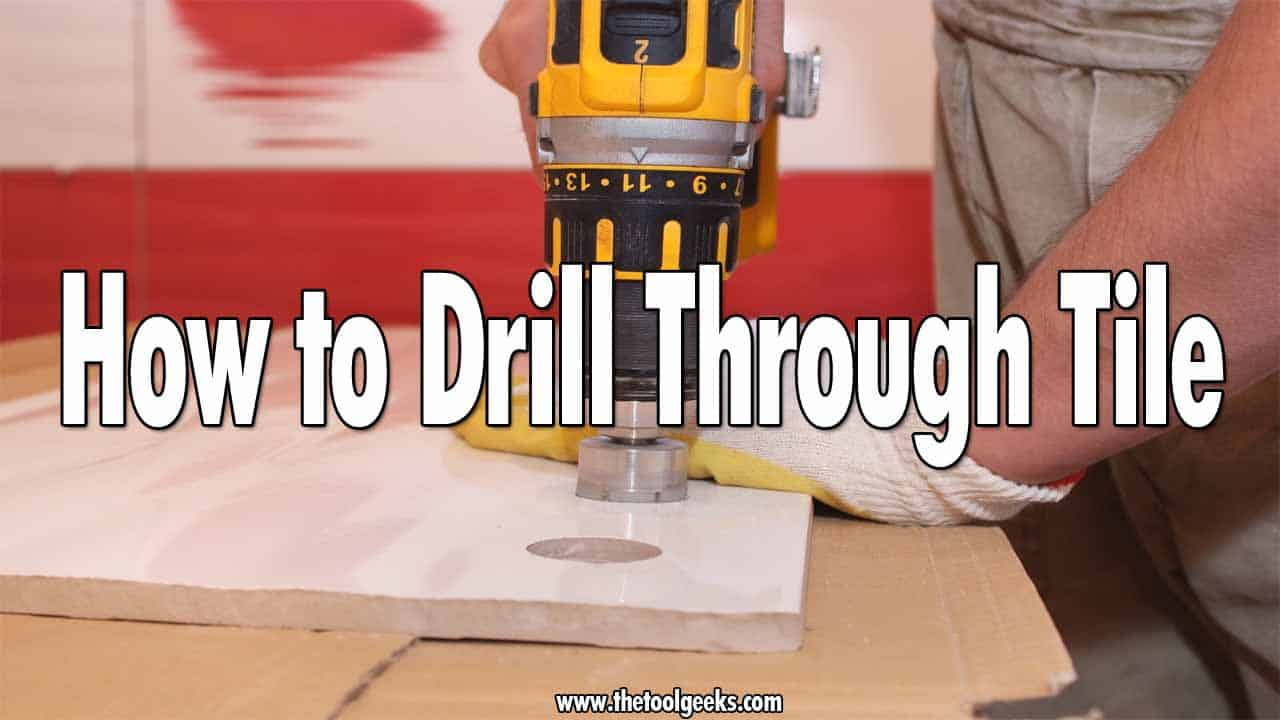 There are a lot of reasons why you might want to make a hole in your bathroom tiles. Whatever the reason is, you first must know how to drill through tile, tiles can easily break, and replacing one is a hard task that you don't want to do. That's why to avoid that from happening you should read our guide where we explained all the steps you need to do.