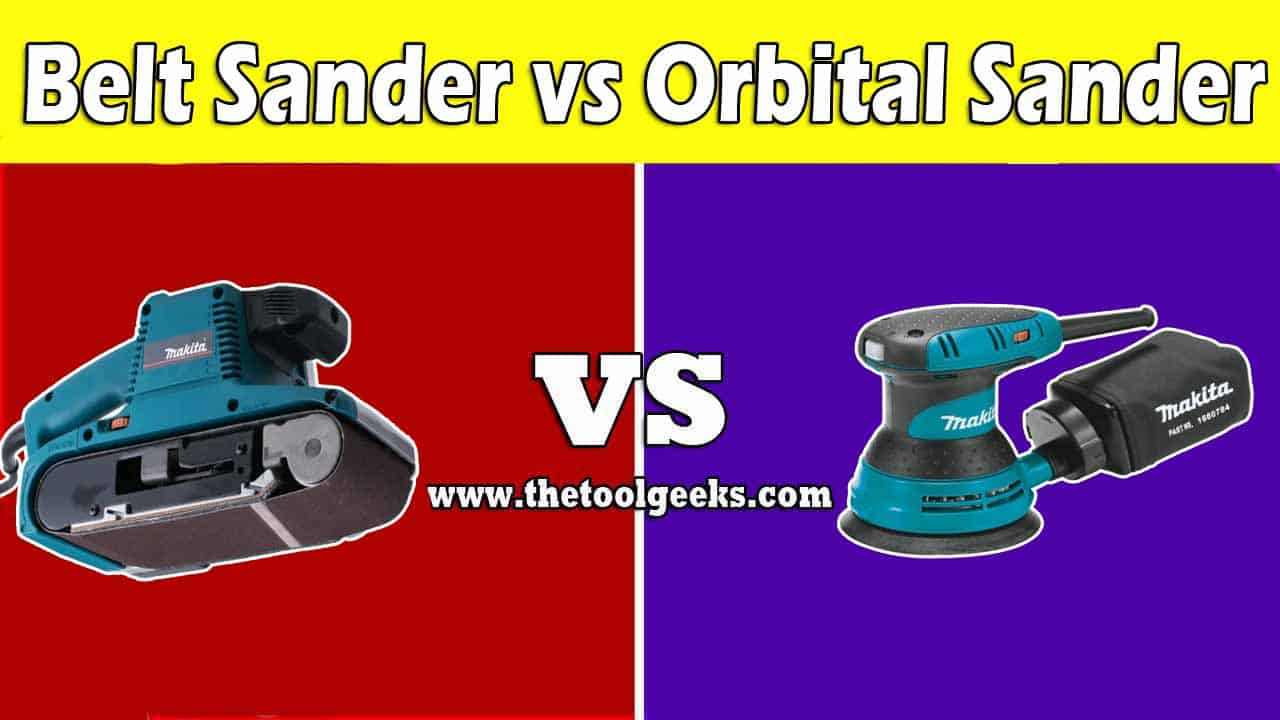 The belt sander vs orbital sander debate keeps going on, there are a lot of differences between these two sanders. The main reason is the shape, the orbital sanders come with a round base, while the belt sanders come with a straight base. The purpose is also a very big difference, the straight sanders are made for rough surfaces, while the orbital sanders are made to give the surface a nice finish.