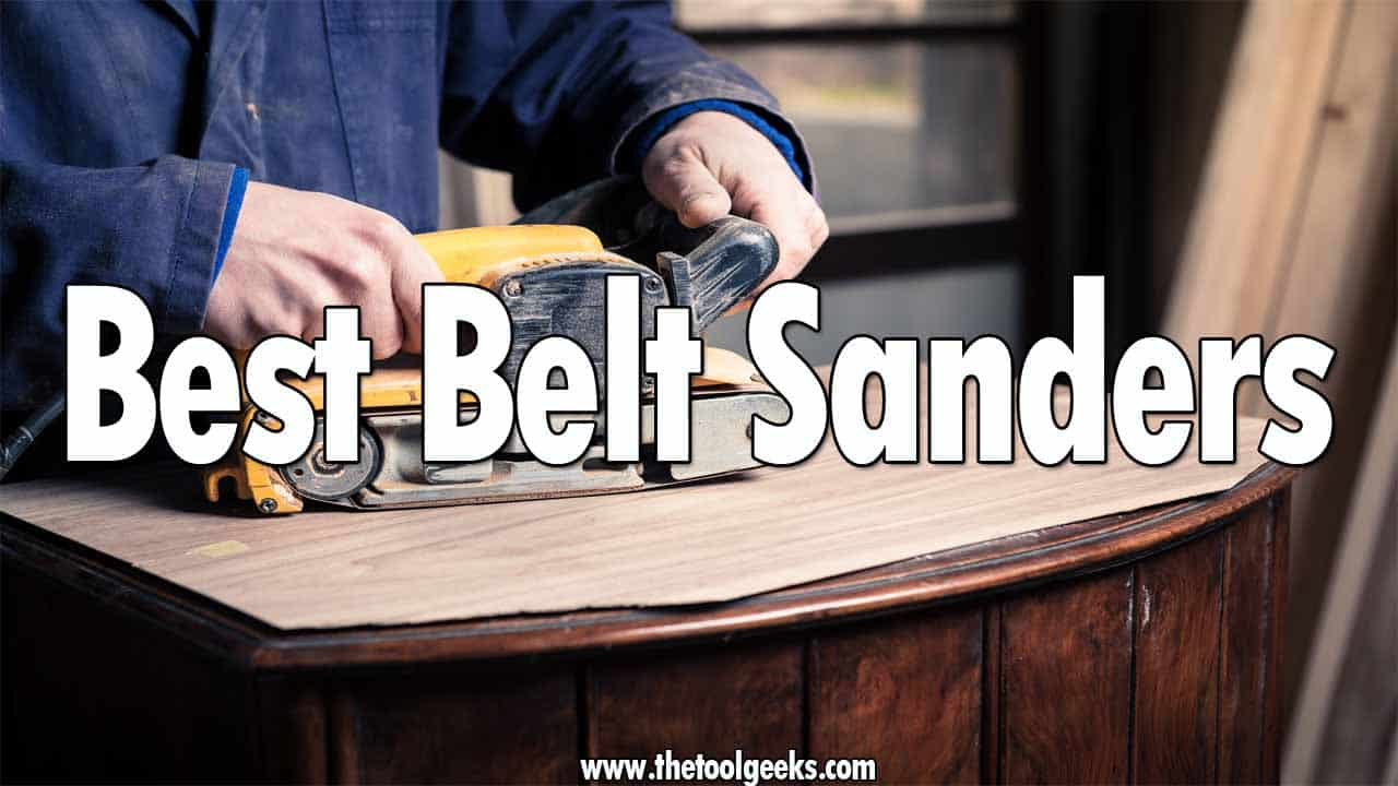 If you want to complete a sanding project faster then it's recommended to use a belt sander. Belt sanders are mostly used for wood, but they can be used for other materials too. While they are good tools, finding the right one for you can be difficult. That's why we have made a list that contains the best belt sanders. The list has 5 different belt sanders that come with different features.