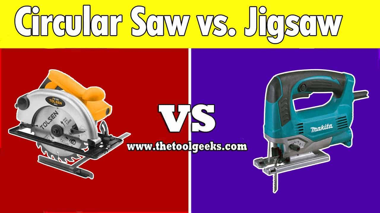 If you are into woodworking then you have probably heard about circular saws and jigsaws. These two tools are used a lot for woodworking, but they do a different job. So, what's the difference between the circular saw vs jigsaw? The main difference is the blade, the jigsaw comes with a straight blade, while the circular saw comes with a circular blade (hence the name circular saw).