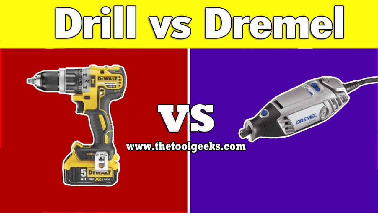 There are a lot of different power tools available on the market, two tools that a lot of people use are the Dremel and the drill, especially the latter one. These two tools look the same, but what's the difference between the drill vs Dremel? There are a lot of differences, the main two are the power and the speed, the Dremel has a lot more speed, but lacks in power, while the drill lacks in speed (when in comparison with the drill) and has a lot of power.